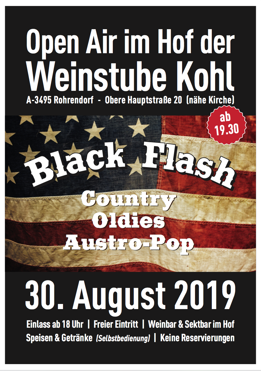 30.8.2019 - Open Air Konzert